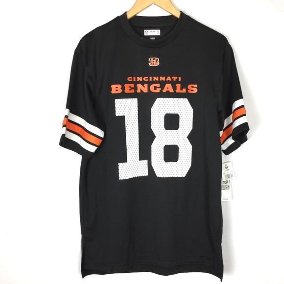 buy online 27893 3ecd3 Cincinnati Bengals 18 AJ Green mens jersey t shirt NWT